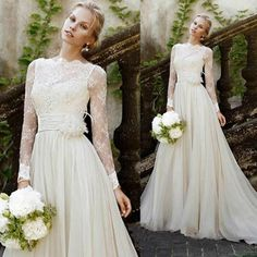 vintage wedding dresses with sleeves - Google Search