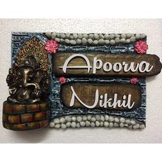 Mural Art Clay Name Plate