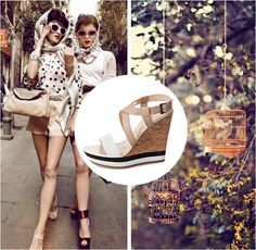 City Style #wedges #Italian #fashion #summer #inspiration #black #white #nyc #Milan Carlo Pazolini