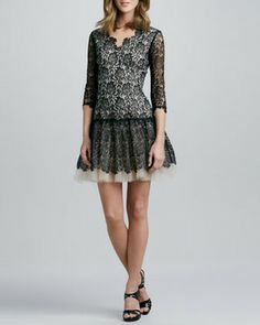 Nha Khanh 3/4-Sleeve Lace Dress on shopstyle.com