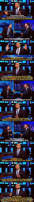 Trevor Noah on The Daily Show. So so so many shots fired.