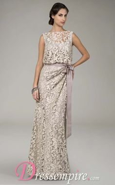 beautiful lace~Gorgeous! I love this dress! Mother of the Bride dress