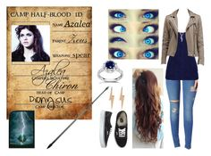 """Daughter of Zeus Camp Half-Blood ID"" by lostprincessofthesea ❤ liked on Polyvore featuring Hudson Jeans, Jane Norman, Vans, Annello, Diane Kordas, Edge Only and Amanti Art"