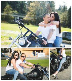 """Hot Daaamn!!"" – Amanda and Danny's Sexy Harley Davidson Engagement Photo session"