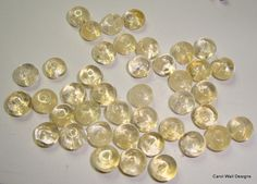 Light Citrine smooth rondelles 89mm DESTASHING DEAL by LacadaBeads, $3.98