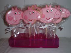 Galletas decoradas de Peppa Pig