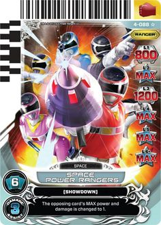 Space Power Rangers Trading Card