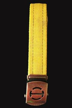 Yellow Attack Line, Fire Hose Belt. Made from recycled fire hose from around the USA. A portion of proceeds help firefighters. optixinternational.com