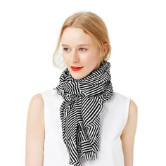 Kate Spade Saturday  Rectangle Scarf in Jumping Gazelles