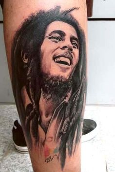 Bob Marley Tattoos the man