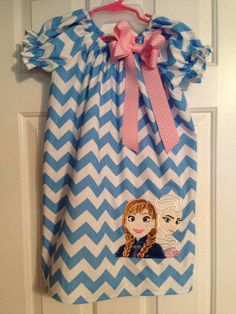 Disney Frozen Anna and Elsa by CruzsDesigns on Etsy, $33.50
