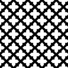 Camelot Cottons House Designer - Black and Tan - Lattice in Black and White