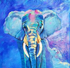 Buy Baby Blue, Mixed-media painting by Cathy Maiorano on Artfinder. Discover thousands of other original paintings, prints, sculptures and photography from independent artists. Bird Artwork, Elephant Art, Painting Edges, Mixed Media Painting, Lovers Art, Impressionist, Pet Birds, Baby Blue, Buy Art