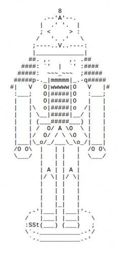 The Christmas Nutcracker in ASCII Art