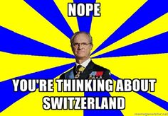 LOL! I've had several people get the whole Sweden-Switzerland thing confused when I attempted to talk to them about Sweden.