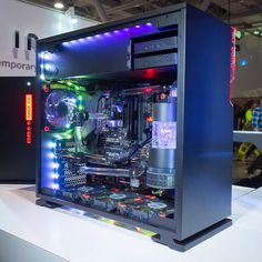The @inwinusa booth at #PAXEast has some incredible builds on display including this one with the newly announced In Win 101. If you're at PAX be sure to drop by and check out their cases.  #rigs