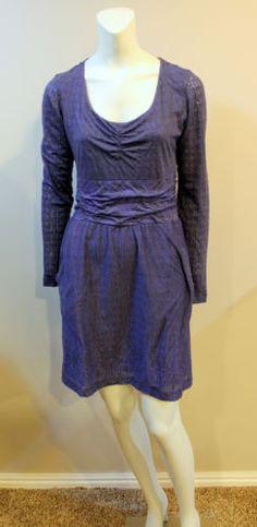 Athleta Perfect Packer Dress Purple Medium Shirred Pockets | eBay