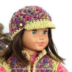 American Doll Crochet Hat @Teresa Selberg Selberg Selberg Selberg Terry.