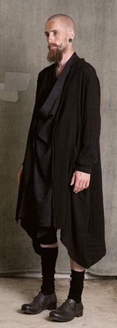 Aleksandr ManamÏs - SS15 - Fold Neck Cardigan - Lookbook