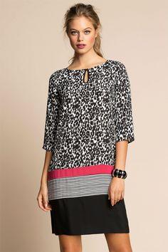 Women's Clothing - Emerge Animal Print Dress - EziBuy Australia