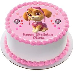 PAW Patrol Skye 3 is one of the best impressions of paw patrol If this makes for your munchkin's order it now! Bolo Do Paw Patrol, Skye Paw Patrol Cake, Torta Paw Patrol, Paw Patrol Cupcake Toppers, Paw Patrol Cupcakes, Paw Patrol Birthday Girl, Birthday Cake Girls, Birthday Cake Toppers, Edible Printing