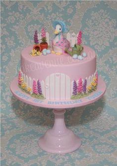 jemima puddle duck garden cakr