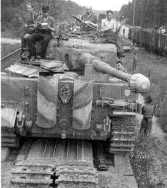 Tiger on railway