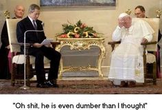 Funny George Bush Pictures: Bush Meets the Pope