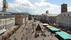 Karlsruhe: Mobile City Guide: Market square