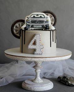 Car Cakes For Men, Cakes For Boys, Cars Cake Design, Cars Theme Cake, Car Cake Tutorial, Fab Cakes, Russian Cakes, Baby Boy Cakes, Birthday Cakes For Men