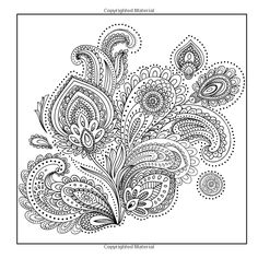 Adult Coloring Books: A Coloring Book for Adults Featuring Mandalas and Henna Inspired Flowers, Animals, and Paisley Patterns Motif Paisley, Paisley Art, Paisley Design, Paisley Pattern, Paisley Drawing, Paisley Doodle, Paisley Wallpaper, Paisley Tattoos, Print Tattoos