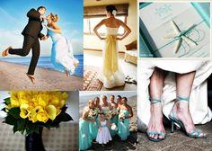 Aqua-Yellow-Wedding-Inspiration-Board