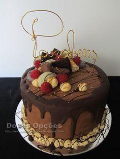 Doces Opções: Chocolate drip cake