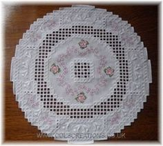 Col's Creations - Traditional Hardanger Designs - Rose Garden - Part Of The Elegant Mats Collection €€