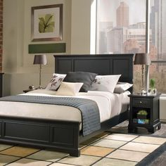 Home Styles Bedford Complete Bedroom Set, Black