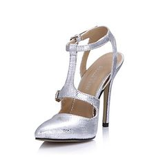 Fashion Leatherette Stiletto Heel Sandals With Buckle Party/Evening Shoes – USD $ 89.99