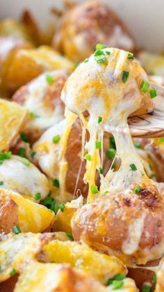 Baked Cheesy Ranch Potatoes