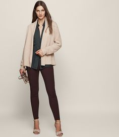 Michelle Open-Front Cardigan - REISS