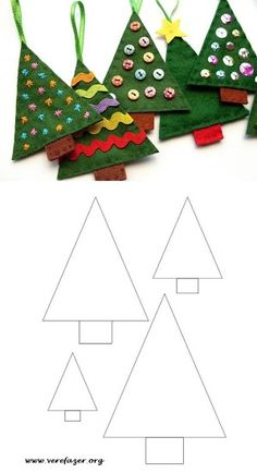 Read more about Making Your Own Christmas Decorations Disney Christmas Ornaments, Handmade Christmas Decorations, Christmas Art, Diy Christmas Room Decor, Christmas Sewing Projects, Christmas Crafts For Kids, Holiday Crafts, Homemade Christmas, Felt Ornaments