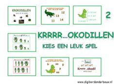Digibordles: Krrrr..okodil 7 verschillende spelletjes voor groep 2. http://digibordonderbouw.nl/index.php/component/jdownloads/viewcategory/368?Itemid=