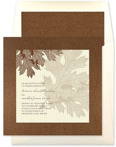 Fall Invitations Fall Wedding Invitation Leaves by PlaceOfEvents, $4.50