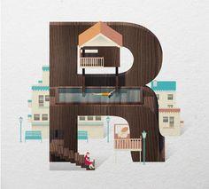 Resort Type by Jing Zhang, via Behance