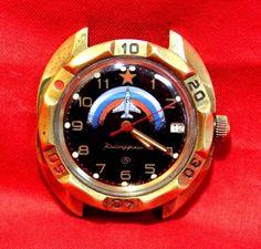 "#Watch #Commander #VOSTOK #Aviation #aircraft ""RED STAR"" mechanical waterproof #Vostok #Casual #ebay #love #molch_ann #store"