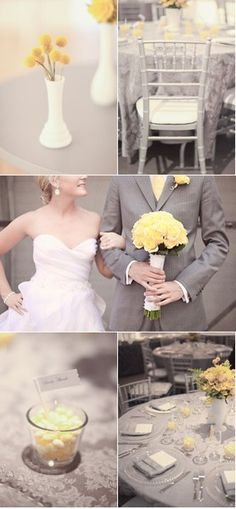 gray & yellow wedding  this is what i want!!