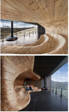 Norwegian Reindeer Viewing Centre Pavilion by Snøhetta #Norway #architecture #interiordesign I love this.