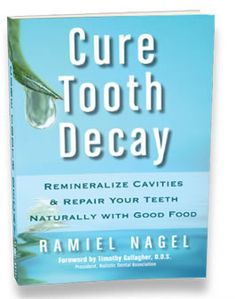 Cure Tooth Decay: Remineralize Cavities & Repair Your Teeth Naturally With Good Food    Features of your book include:  Dentist Weston Price's 95% effective tooth decay curing protocol and four more innovative protocols.  How to repair and remineralize your teeth now utilizing diet.  How to stop getting fillings, crowns and root canals.  How to stop tooth pain and tooth infections naturally.  How babies, children, teens, adults and pregnant or breastfeeding mothers can accelerate tooth healing.    Learn how to save your teeth with valuable health wisdom not found anywhere else.