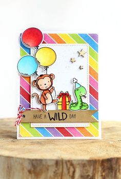 Hi there!   I'm back with another Wild Ones  card, to celebrate Neat and Tangled's 5th birthday .        I wanted to use the little snake, ...