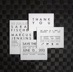 Whether your planning an elegant black-tie soiree or a casual family dinner, black and white wedding invitations can suit an array of stylish celebrations! Lace Invitations, Invitation Kits, Letterpress Wedding Invitations, Wedding Stationary, Invitation Wording, Letterpress Save The Dates, Minimalist Wedding Invitations, Wedding Paper, Trendy Wedding