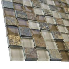 Merola Tile Tessera Square Brixton 11-3/4 in. x 11-3/4 in. x 8 mm Stone and Glass Mosaic Wall Tile-GDMTSQB - The Home Depot