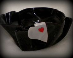Record Bowl Heart Accent by betsysstuff on Etsy, $8.00